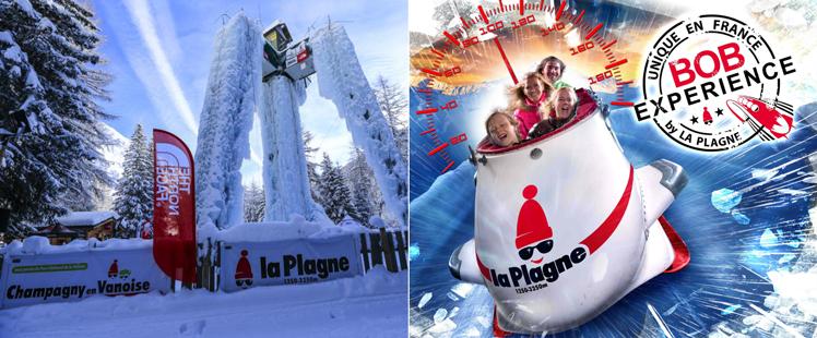 Tour de glace et bobsleigh la plagne