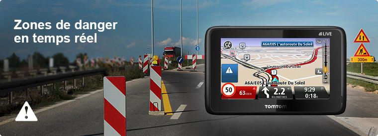 Zones de danger sur votre GPS pour camping car